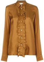 Maison Margiela pleated placket shirt - women - Silk - 40
