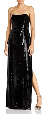 Aidan Mattox Strapless Sequinned Gown - 100% Exclusive
