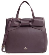 Kate Spade Olive Drive Brigette Leather Satchel - Burgundy