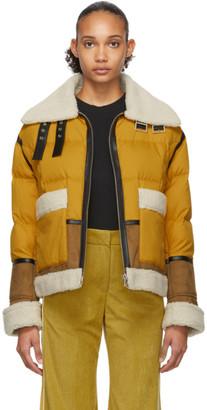 Sjyp Yellow Down Mustang Jacket