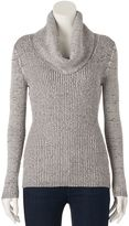 It's Our Time Juniors' Ribbed Cowlneck Sweater