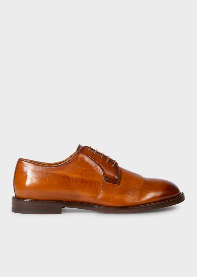 Paul Smith Men's Tan Leather 'Gale' Derby Shoes