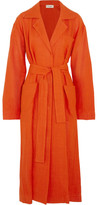 Isa Arfen Safari Linen Coat - Orange