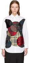 Junya Watanabe White Circles Patchwork Shirt