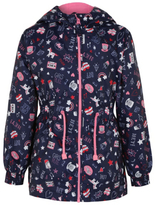 George Shower Resistant Doodle Print Hooded Jacket