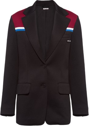 Miu Miu Colour-Block Single-Breasted Blazer