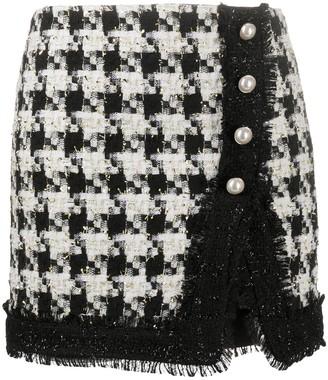 Liu Jo Houndstooth Tweed Skirt