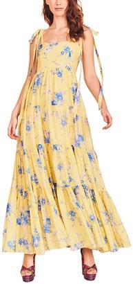 LoveShackFancy Burrows Silk-Blend Dress