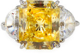 FANTASIA Emerald-Cut Canary Cubic Zirconia Ring