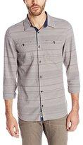 Buffalo David Bitton Men's Sacoot Long Sleeve Striped Woven Shirt