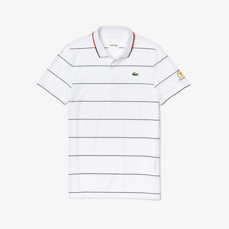 Lacoste Men's Presidents Cup Striped Breathable Stretch Jersey Golf Polo Shirt
