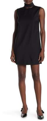 Theory Slit Collar Wool Dress