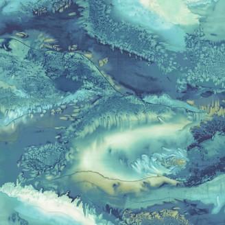 Anthology Obsidian Wallpaper Panel, Azurite, 111628 Panel B