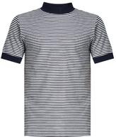 Blue Blue Japan Crew-neck striped cotton-blend jersey T-shirt