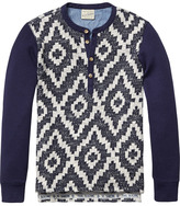 Scotch & Soda Jacquard Grandad Sweater
