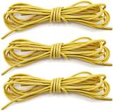 "DailyShoes Round Waxed Shoelaces Oxford Flat Dress Canvas Sneaker Shoe Laces (27"" 36"" 45"" 54"" 60"" 78"") Unisex Strings-3 Pairs"