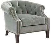 Lexington Kensington Place Armchair Upholstery Color: Green, Leg Color: Kensington, Nailhead Detail: Brass
