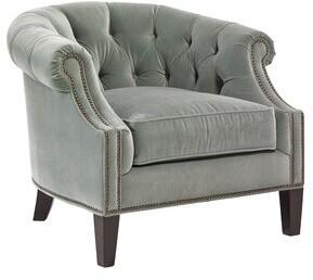 Lexington Kensington Place Armchair Fabric: Green, Leg Color: Kensington, Nailhead Detail: Brass