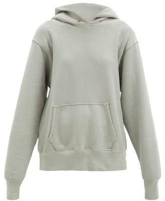 LES TIEN Brushed-back Cotton Hooded Sweatshirt - Light Grey