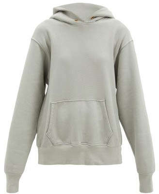 LES TIEN Fleeceback Cotton-jersey Hooded Sweatshirt - Light Grey