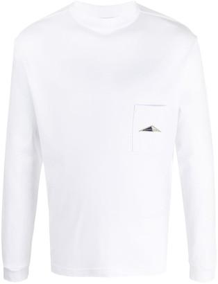 Anglozine Mock Neck Pocket Sweatshirt