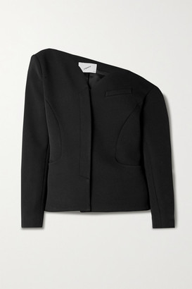 Coperni Heart Off-the-shoulder Asymmetric Cady Jacket - Black