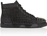 Christian Louboutin Men's Louis Orlato Flat Leather Sneakers