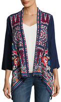 Johnny Was Mina Embroidered Linen Cardigan