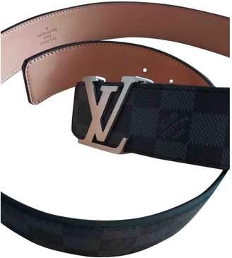 Louis Vuitton Initiales Black Cloth Belts