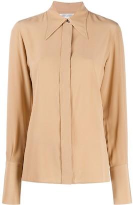 Victoria Beckham Pointed Collar Silk Shirt