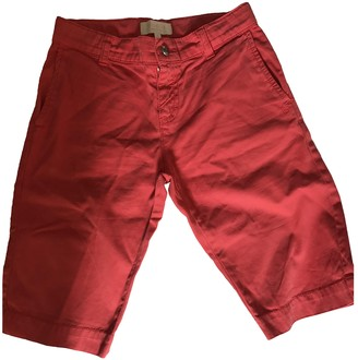 Gucci Red Cotton Shorts