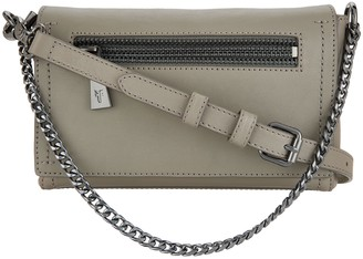 Frye Leather Lena Zip Chain Crossbody