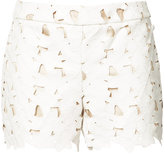Alice + Olivia Alice+Olivia - laser cut flower shorts - women - Polyester/Spandex/Elastane - 0