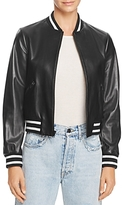Alice + Olivia Demia Leather Bomber Jacket