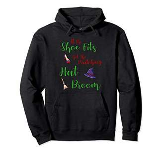 b-ROOM Halloween Witch Funny Sayings Matching Hat & Broom Pullover Hoodie