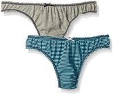 Tommy Hilfiger Women's 2 Pk Ruched Thong