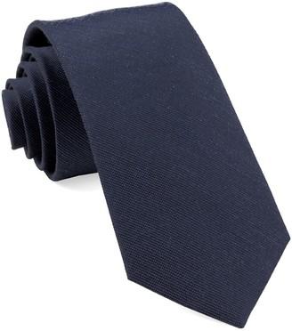Tie Bar Cardinal Solid Navy Tie