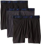 Hanes Men's 3 Pack Ultimate X-Temp Boxer Briefs, Assorted, Medium