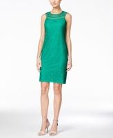Jessica Howard Petite Open-Weave Lace Shift Dress