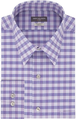 Van Heusen Mens Flex Collar Fitted Athletic Stretch Dress Shirt