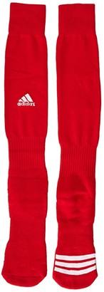 adidas Rivalry Field 2-Pack OTC Sock (University Red/White) Crew Cut Socks Shoes