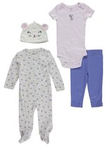 "Carter's Baby Girls' ""Mouse"" 4-Piece Layette Set"