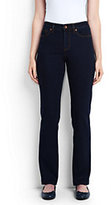 Classic Women's Petite Mid Rise Straight Leg Jeans-Heritage Indigo Wash