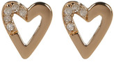 Kenneth Cole New York Gold Plated Diamond Detail Open Heart Stud Earrings - 0.06 ctw