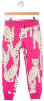 Mini Rodini Girls' Cheetah Print Sweatpants