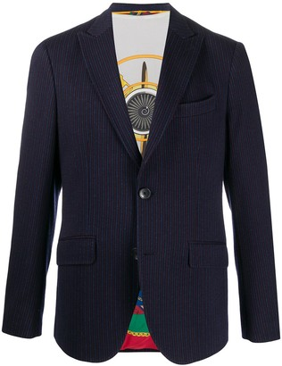 Etro Striped Single-Breasted Blazer