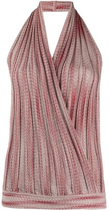 Missoni Halter Neck Knitted Wrap Top