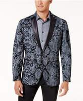 INC International Concepts Men's Slim-Fit Textured Snake-Print Jacket, Created for Macy's