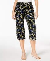 Karen Scott Petite Floral-Print Capri Pants, Created for Macy's