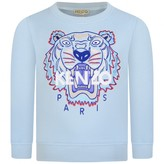 Kenzo KidsGirls Blue Embroidered Tiger Sweater